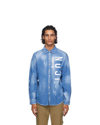 DSQUARED2 Blue Denim Icon Shirt