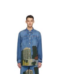 Loewe Blue Ken Price Edition Denim La Overshirt Jacket