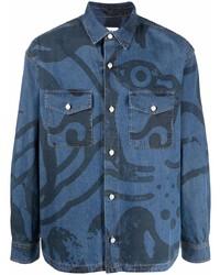 Kenzo Graphic Print Denim Shirt