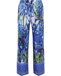 F.R.S For Restless Sleepers Etrere Printed Silk Twill Straight Leg Pants