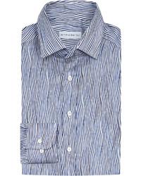 Etro Wave Print Regular Fit Linen Shirt