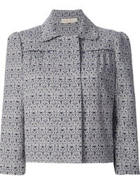 Tory Burch Cropped Printed Jacket