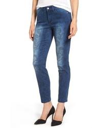 NYDJ Alina Print Slim Ankle Jeans