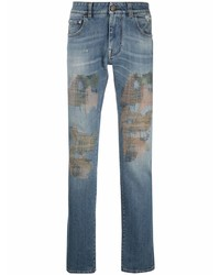 Etro Camouflage Embroidery Jeans
