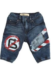 John Galliano Street Signs Printed Stretch Denim Jeans