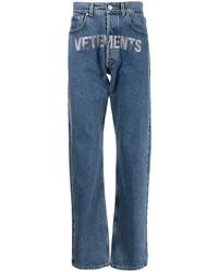 Vetements Studded Logo Straight Jeans