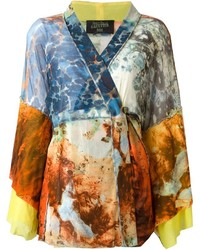 Jean Paul Gaultier Vintage Printed Kimono Top And Matching Wrap Skirt