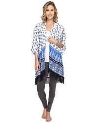 PJ Salvage Pj Salvage Coastal Blue Print Kimono