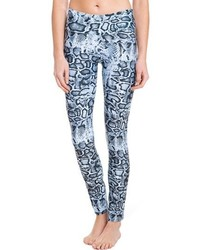 Be Up Blue Cobra Print Legging