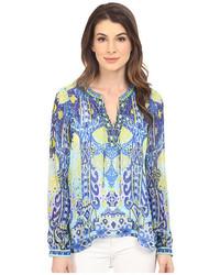 Eye candy long sleeve silk blouse medium 3650074