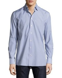 Eton Car Print Sport Shirt Navy