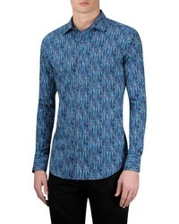 Bugatchi Classic Fit Graphic Sport Shirt