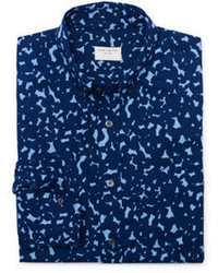 Club Monaco Modern Slim Splash Print Shirt