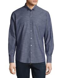 Zachary Prell Dobby Print Long Sleeve Sport Shirt