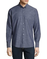 Zachary Prell Dobby Print Long Sleeve Sport Shirt