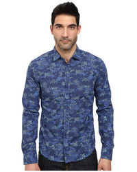 Boss Orange Extreme Slim Fit Long Sleeve Shirt In Camu Flower Print