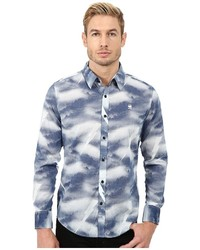 G Star G Star Shattor All Over Print Long Sleeve Shirt