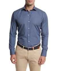 Peter Millar Kochosen Printed Sport Shirt Blue