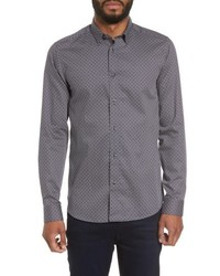 Ted Baker London Larosh Slim Fit Basket Weave Print Sport Shirt