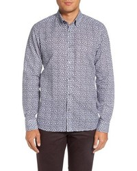 Ted Baker London Toright Trim Fit Print Sport Shirt