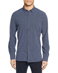 Ted Baker London Werlwin Print Extra Slim Fit Sport Shirt