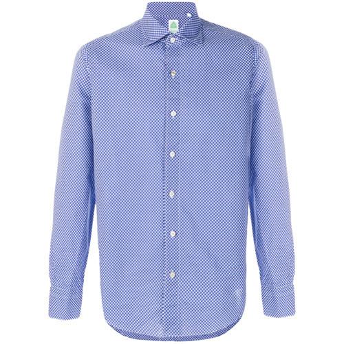 0728e77f3d3 ... Long Sleeve Shirts Finamore 1925 Napoli Patterned Shirt ...