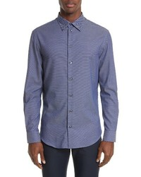 Armani Collezioni Regular Fit Diamond Print Sport Shirt