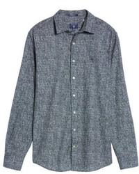 Gant Regular Fit Tweed Print Sport Shirt