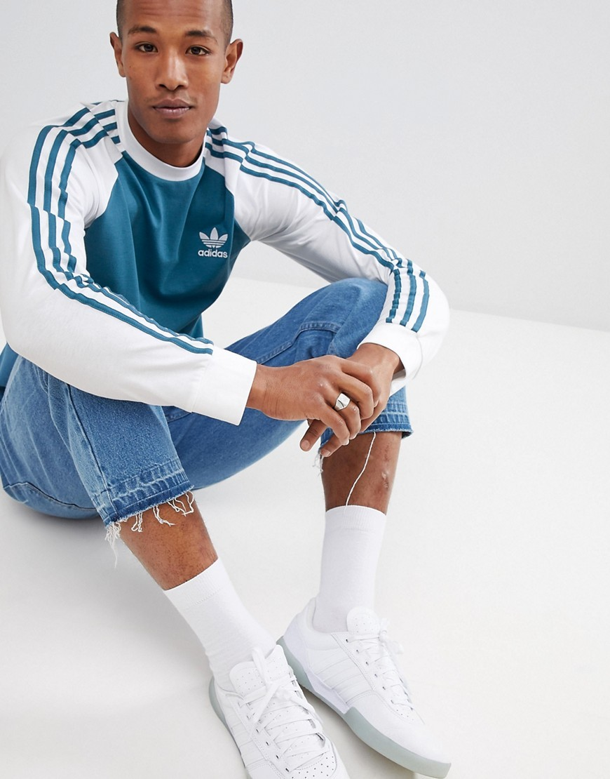 Adidas Originals Long Sleeve Top In Blue Dh5794 Where To Buy How