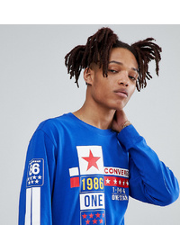 Converse One Star 86 Long Sleeve T Shirt In Blue At Asos