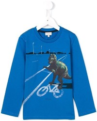 Paul Smith Junior T Rex Print Long Sleeve T Shirt