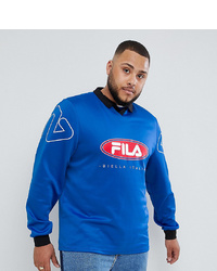 Fila Retro Goalie Long Sleeve T Shirt In Blue