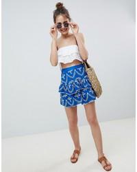 ASOS DESIGN Broderie Frill Mini Skirt