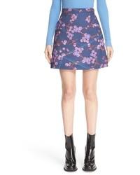 Floral print a line miniskirt medium 790913
