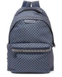 Stella McCartney Medium Windsor Tie Print Nylon Backpack