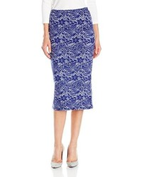 Glamorous Lace Print Pencil Skirt
