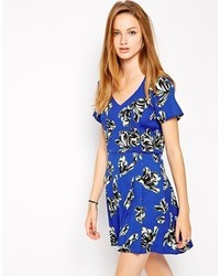 Influence Floral Playsuit Blue Print