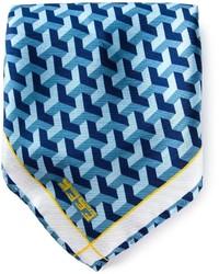 fe-fe Fef Geometric Print Pocket Square Handkerchief