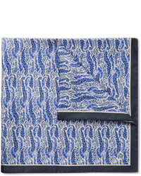 Dunhill Printed Mulberry Silk Pocket Square