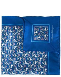 Salvatore Ferragamo Horse Print Pocket Square