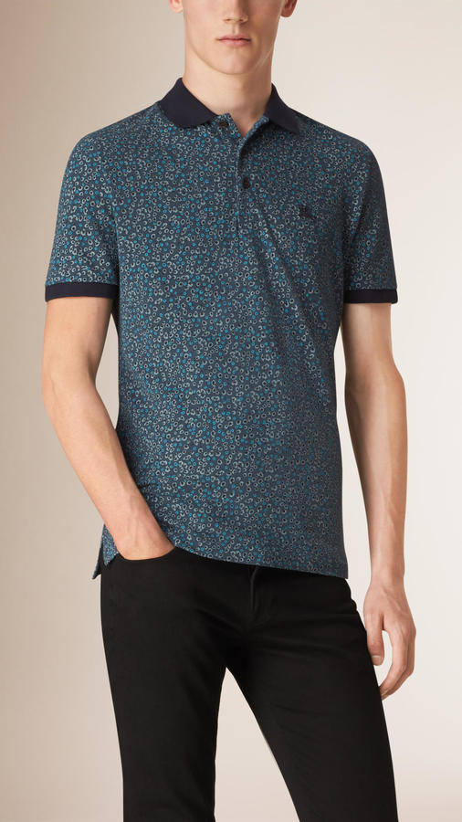7bbef9952d3cb ... Burberry Abstract Print Piqu Cotton Polo Shirt ...