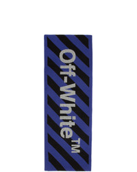 Off-White Blue And Black Arrows Scarf