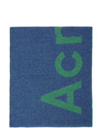 Acne Studios Blue And Green Toronty Scarf