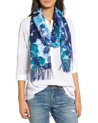 Marine mosaic print wool cashmere scarf medium 5209134