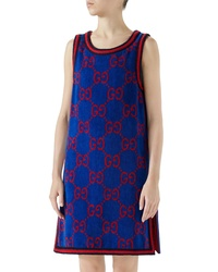 Gucci Gg Cotton Jacquard Shift Dress