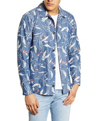 rag & bone Mace Slim Fit Graphic Print Shirt Jacket