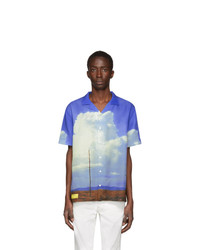 Axel Arigato Blue Oil Painting Texas Short Sleeve Shirt
