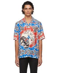 Paul Smith Blue Red Cowboy Short Sleeve Shirt