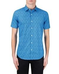 Classic fit print sport shirt medium 4422803