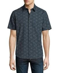 Theory Nikko Printed Short Sleeve Shirt
